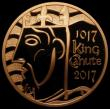 London Coins : A167 : Lot 555 : Five Pound Crown 2017 1000th Anniversary of the Coronation of King Canute Gold Proof S.L50 some tiny...