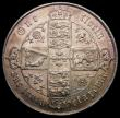 London Coins : A167 : Lot 571 : Florin 1869 ESC 834, Bull 2867, Davies 749 dies 3A Top Cross is clear of the border beads, GVF/NEF w...