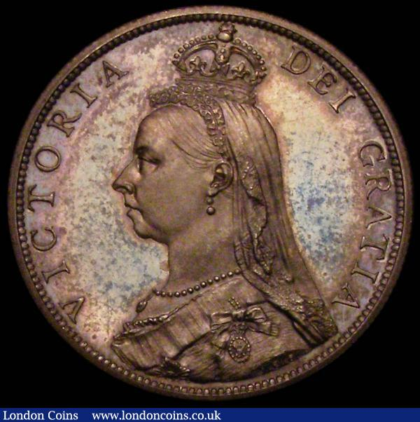 Florin 1887 Jubilee Head Proof ESC 869 deeply toned nFDC : English Coins : Auction 167 : Lot 574