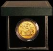 London Coins : A167 : Lot 64 : Five Pounds Gold 2007 S.SE7 BU and fully lustrous in the Royal Mint green box of issue with certific...