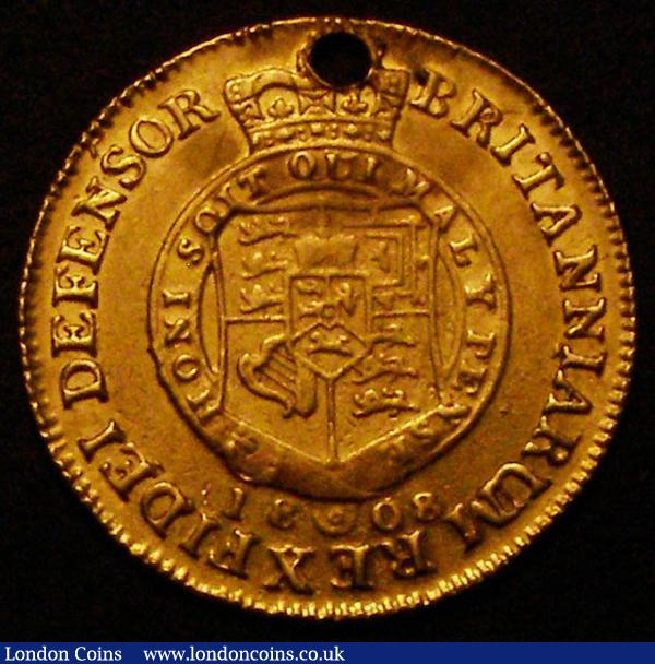 Half Guinea 1808 S.3737 Fine, holed at the top : English Coins : Auction 167 : Lot 660