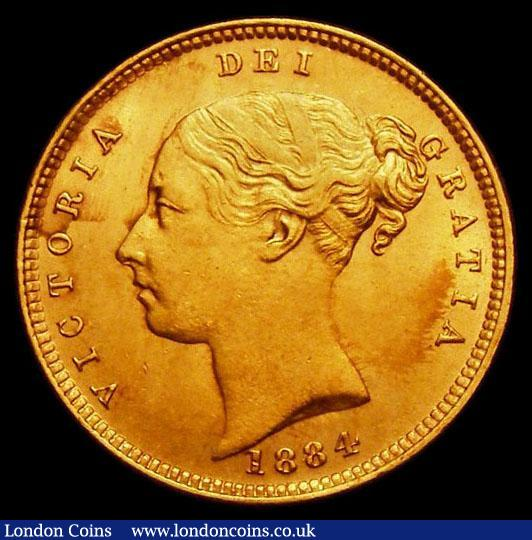 Half Sovereign 1884 Marsh 458 UNC and lustrous, in an LCGS holder and graded LCGS 80, the joint finest of 6 examples thus far recorded by the LCGS Population Report : English Coins : Auction 167 : Lot 698