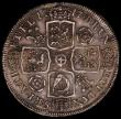 London Coins : A167 : Lot 755 : Halfcrown 1717 Roses and Plumes TIRTIO ESC 589 EF or better with a lovely tone the best example of t...