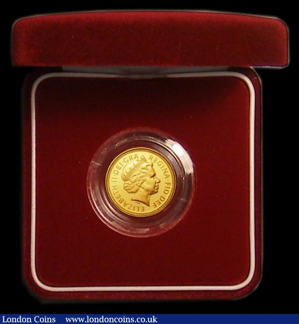 Half Sovereign 2002 Proof FDC in the red box of issue with certificate : English Cased : Auction 167 : Lot 76