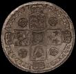 London Coins : A167 : Lot 762 : Halfcrown 1745 45 over 45 in date ESC 604A, Bull 1686 (previous listed as 5 over 3 by ESC), rated R2...