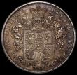 London Coins : A167 : Lot 774 : Halfcrown 1825 Plain edge Proof ESC 644 nFDC with a deep and pleasing multicoloured toning, rare and...