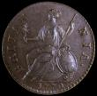 London Coins : A167 : Lot 824 : Halfpenny 1770 Peck 893 UNC or very near so with a dark chocolate tone, a lovely example with only v...