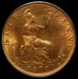 London Coins : A167 : Lot 831 : Halfpenny 1877 Freeman 332 dies 14+J UNC and choice with around 75% lustre and super eye appeal, the...