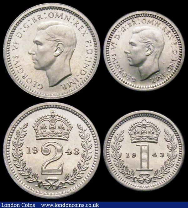 Maundy Set 1943 ESC 2560, Bull 4312 GEF to UNC and lustrous, retaining much original brilliance : English Coins : Auction 167 : Lot 840