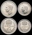 London Coins : A167 : Lot 840 : Maundy Set 1943 ESC 2560, Bull 4312 GEF to UNC and lustrous, retaining much original brilliance