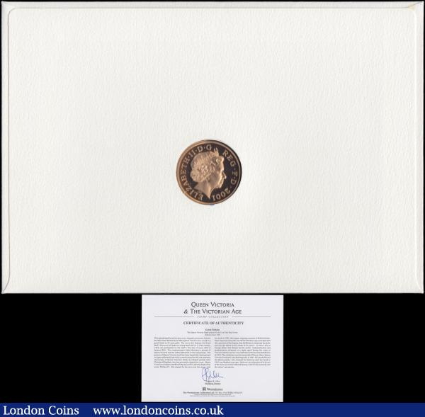 Numismatic First Day Cover 100th Anniversary of the End of the Victorian Era comprising Five Pound Crown 2001 Gold Proof FDC and 6x 1st Class stamps UNC on the envelope of issue, in the large Westminster wallet, only 100 sets issued : English Cased : Auction 167 : Lot 85