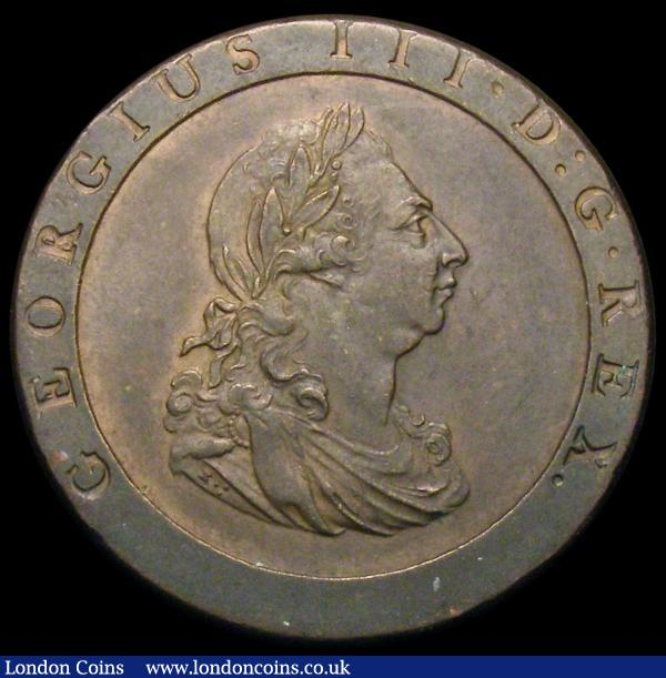 Penny 1797 10 Leaves Peck 1132 EF or very near so with traces of lustre : English Coins : Auction 167 : Lot 853