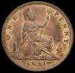London Coins : A167 : Lot 865 : Penny 1861 Freeman 29 dies 6+D UNC around 40% mint lustre, the surfaces of superior quality and disp...