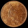 London Coins : A167 : Lot 874 : Penny 1866 Freeman 52 dies 6+G UNC toned with traces of lustre, in an LCGS holder and graded LCGS 80