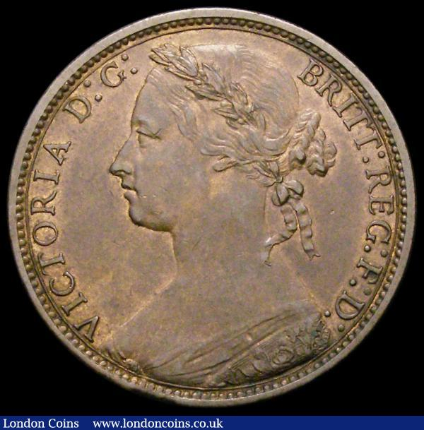 Penny 1876H Wide Date Freeman 87 dies 8+J EF : English Coins : Auction 167 : Lot 880