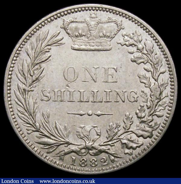 Shilling 1882 ESC 1341, Bull 3071 About EF/EF and very scarce : English Coins : Auction 167 : Lot 925
