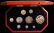 London Coins : A167 : Lot 96 : Proof Set 1902 Silver Set (9 coins) Crown, Halfcrowm, Florin, Shilling, Sixpence and Maundy Set nFDC...