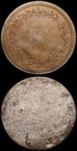 London Coins : A168 : Lot 1017 : Five Shillings And Sixpence Bank Token 1811 Electrotypes or clichés (2 pieces) Obverse and Re...