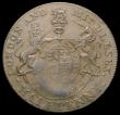 London Coins : A168 : Lot 1031 : Mint error - Mis-Strike Halfpenny 18th Century Middlesex Prince of Wales DH955/956 edge Payable at L...