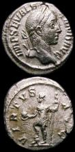 London Coins : A168 : Lot 1064 : Roman Denarius (3) Commodus 189AD Rev.Securitas seated left holding globe, DES VI in exergue RIC 190...