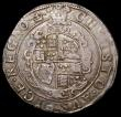 London Coins : A168 : Lot 1091 : Halfcrown Charles I Group III, Third horseman, Type 3b Reverse with Plume above shield, four pellets...