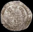 London Coins : A168 : Lot 1094 : Halfcrown Charles I Group III, type 3a2, No ground under horse, King wears cloak flying from shoulde...