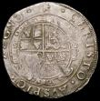 London Coins : A168 : Lot 1097 : Halfcrown Charles I Group IV, Fourth horseman, type 4, foreshortened horse, S.2779 mintmark Star, Fi...