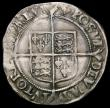 London Coins : A168 : Lot 1119 : Shilling Elizabeth I Second issue, Bust 3C S.2555 mintmark Cross Crosslet, VF, with a slight weaknes...