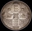 London Coins : A168 : Lot 1144 : Crown 1847 Gothic UNDECIMO ESC 288, Bull 2571 About VF