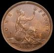 London Coins : A168 : Lot 1450 : Penny 1865 Freeman 50 dies 6+G Toned UNC with a trace of lustre, in an LCGS holder and graded LCGS 7...