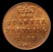 London Coins : A168 : Lot 1466 : Quarter Farthing 1839 Peck 1608 LCGS 82 Ex-PCGS MS64 RB