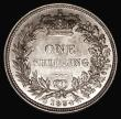 London Coins : A168 : Lot 1488 : Shilling 1834 ESC 1268, Bull 2489 UNC the obverse with minor cabinet friction