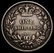 London Coins : A168 : Lot 1490 : Shilling 1854 ESC 1302, Bull 3004 Near Fine/About Fine one of the key dates in the Victorian Young H...