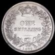 London Coins : A168 : Lot 1493 : Shilling 1877 ESC 1329, Bull 3047, Die Number 18, in an NGC holder and graded MS62
