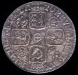 London Coins : A168 : Lot 1506 : Sixpence 1720 20 over 17 ESC 1599, Bull 1611 EF or better and nicely toned, in an LCGS holder and gr...