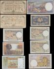 London Coins : A168 : Lot 168 : French Colonial Africa (10) a malgamation of various issues and issuers in a diversity of grades Fin...