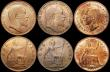 London Coins : A168 : Lot 1759 : Pennies (6) 1883 Lustrous UNC, 1891 Lustrous UNC, 1902 ABU/UNC, 1902 Low Tide AU/GEF nicely toned, 1...