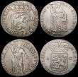 London Coins : A168 : Lot 1883 : Netherlands - Overijssel Gulden (4) 1704 C over N in HAC, unlisted by Krause, type as K#63.1 Near Fi...
