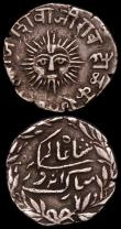 London Coins : A168 : Lot 2020 : India (2) Bombay Presidency Rupee AH113- (last digit off flan) Year 7 so could be AH1136 or AH1137 K...