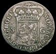 London Coins : A168 : Lot 2051 : Netherlands - Batavian Republic 3 Gulden 1796 Holland KM#9.2 Fine with the appearance of having been...