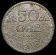 London Coins : A168 : Lot 2077 : Norway 50 Ore 1645 Iron KM390 VF details with field corrosion