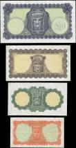 London Coins : A168 : Lot 209 : Ireland (Republic) Central Bank Lady Hazel Lavery denomination set 10 Shillings to 10 Pounds circa 1...
