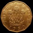 London Coins : A168 : Lot 2110 : Brass Threepence 1950 Peck 2395 LCGS 90