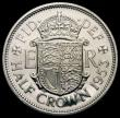 London Coins : A168 : Lot 2191 : Halfcrown 1953  Proof. Obverse 1 Reverse A. Obverse 1 :- I of DEI points to a space weakly struck po...