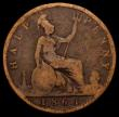 London Coins : A168 : Lot 2206 : Halfpenny 1861 F over P in HALF thus appearing to read HALP, unlisted by Peck or Freeman, VG, normal...