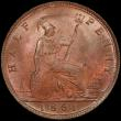 London Coins : A168 : Lot 2207 : Halfpenny 1861 Freeman 282 dies 7+G in a PCGS holder and graded MS64 RB