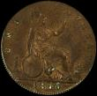 London Coins : A168 : Lot 2256 : Penny 1866 Freeman 52 dies 6+G in a PCGS holder and graded AU58
