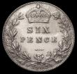 London Coins : A168 : Lot 2329 : Sixpence 1902 Matt Proof ESC 1786, Bull 3598, UNC in an LCGS holder and graded LCGS 82, Ex-London Co...