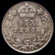 London Coins : A168 : Lot 2333 : Sixpence 1907 ESC 1791, Bull 3603, UNC and attractively toned, in an LCGS holder and graded LCGS 78,...