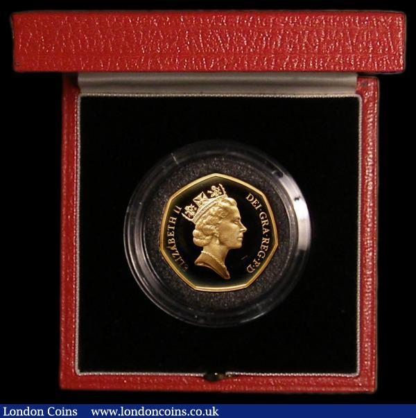 Fifty Pence 1992/3 EU Presidency Gold Proof FDC in the box of issue with certificate : English Cased : Auction 168 : Lot 351